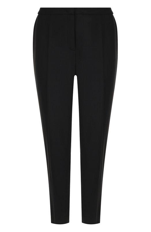 Купить Укороченные шерстяные брюки со стрелками Escada, 5026908, Румыния, Черный, Шерсть: 98%; Эластан: 2%;