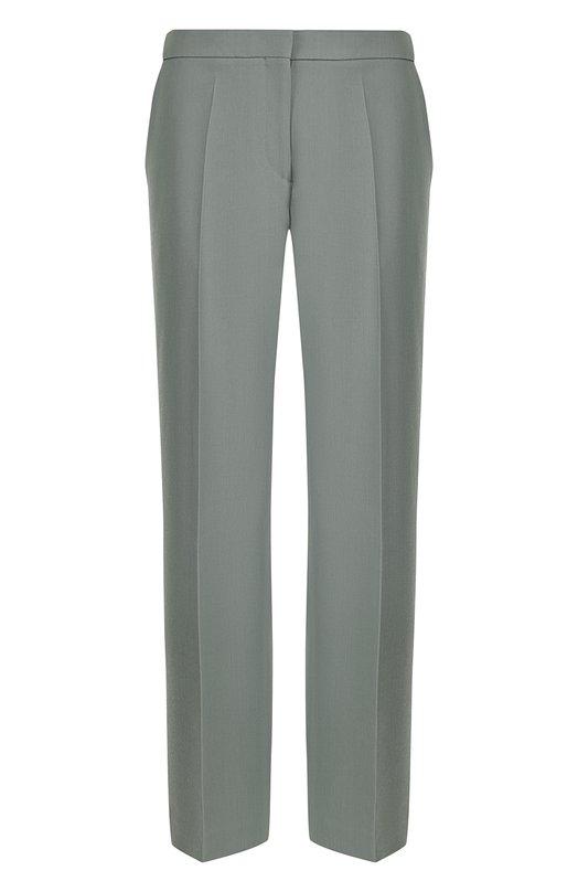 Купить Укороченные шерстяные брюки со стрелками Dries Van Noten, 181-10956-5024, Марокко, Светло-зеленый, Шерсть: 100%;