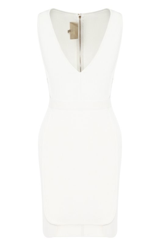 Купить Приталенное мини-платье с V-образным вырезом Elie Saab, 9648, Италия, Белый, Вискоза: 60%; Полиэстер: 20%; Шелк: 10%; Полиамид: 10%;
