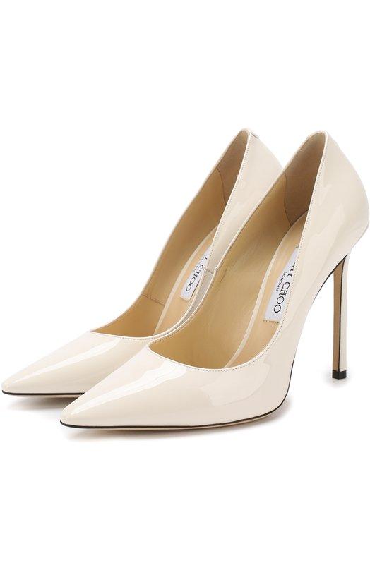 Купить Лаковые туфли Romy 110 на шпильке Jimmy Choo, R0MY 110/PAT, Италия, Белый, кожа: 100%; Кожа натуральная: 100%; Стелька-кожа: 100%; Подошва-кожа: 100%; Подкладка-кожа: 100%; Кожа: 100%;