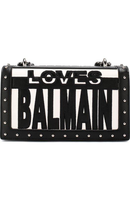 Купить Сумка Love Balmain Balmain, S8F/S122/PGLB, Италия, Черно-белый, Кожа натуральная: 100%;