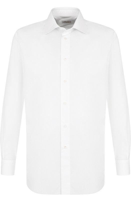 Купить Хлопковая сорочка с воротником кент Brioni, RCL996/PZ024, Италия, Белый, Хлопок: 100%;