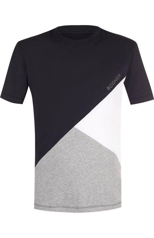 Купить Хлопковая футболка с круглым вырезом Bogner, 51401503, Португалия, Темно-синий, Хлопок: 100%;