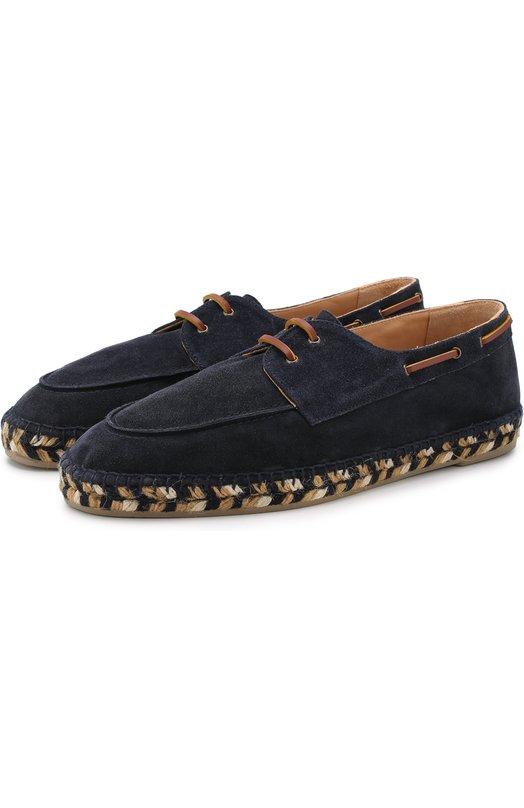 Кожаные эспадрильи на шнуровке Castaner