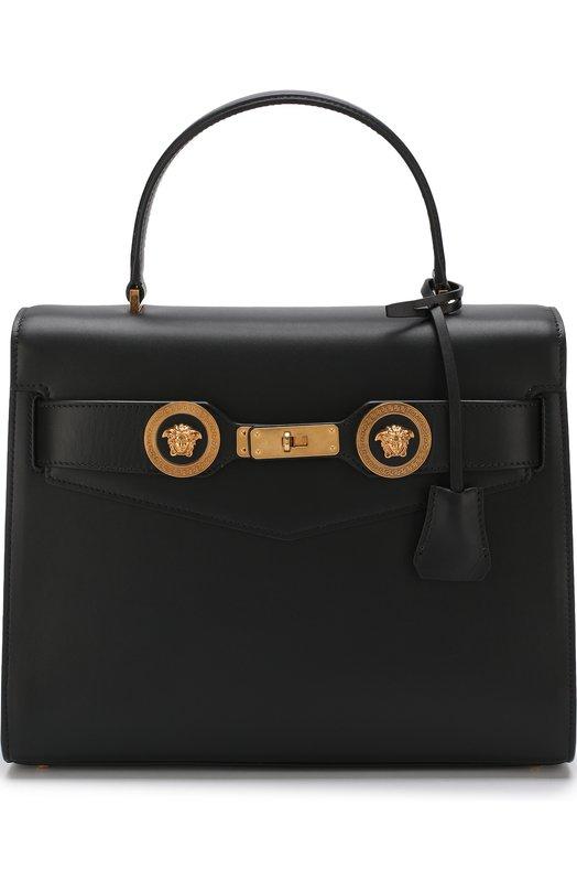 Купить Сумка Tribute Versace, DBFG311/DV1T, Италия, Черный, Кожа натуральная: 100%; Кожа: 100%;