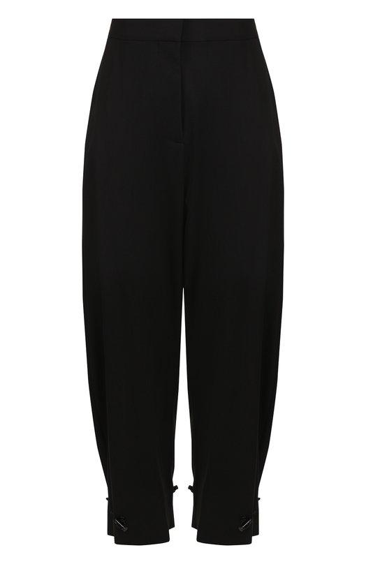 Купить Укороченные шерстяные брюки Stella McCartney, 509476/SIB50, Венгрия, Черный, Шерсть: 100%;