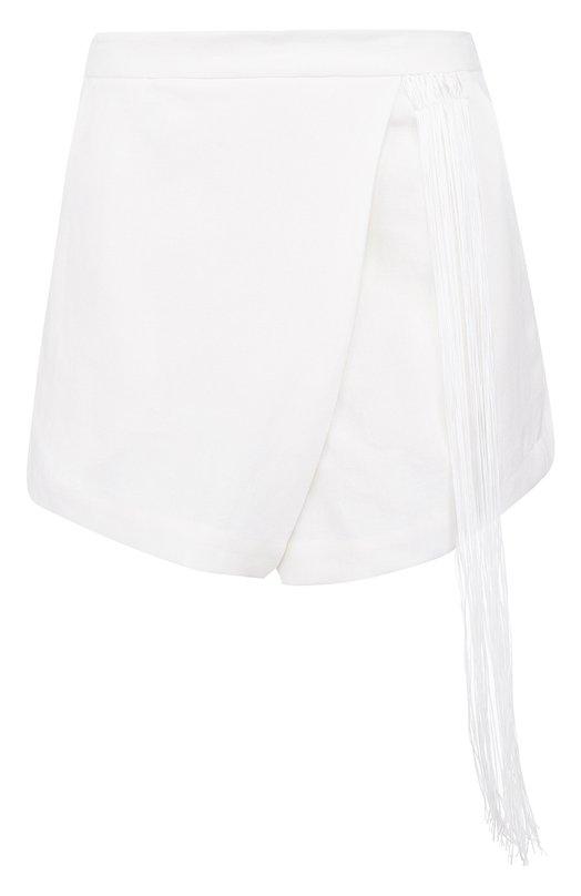 Купить Однотонные мини-шорты из льна Isabel Benenato, WW09RS18, Италия, Белый, Лен: 100%;