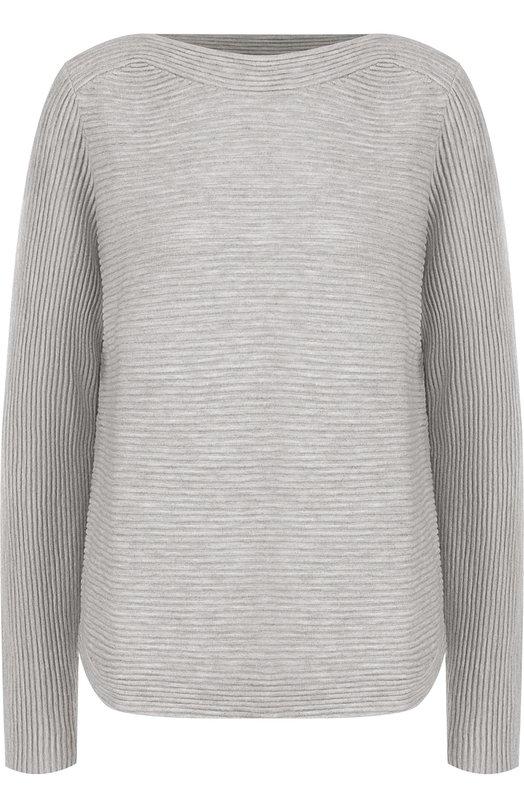 Купить Однотонный пуловер фактурной вязки из смеси шерсти и кашемира Windsor, 52 DP710 10004703, Китай, Серый, Шерсть: 90%; Кашемир: 10%;