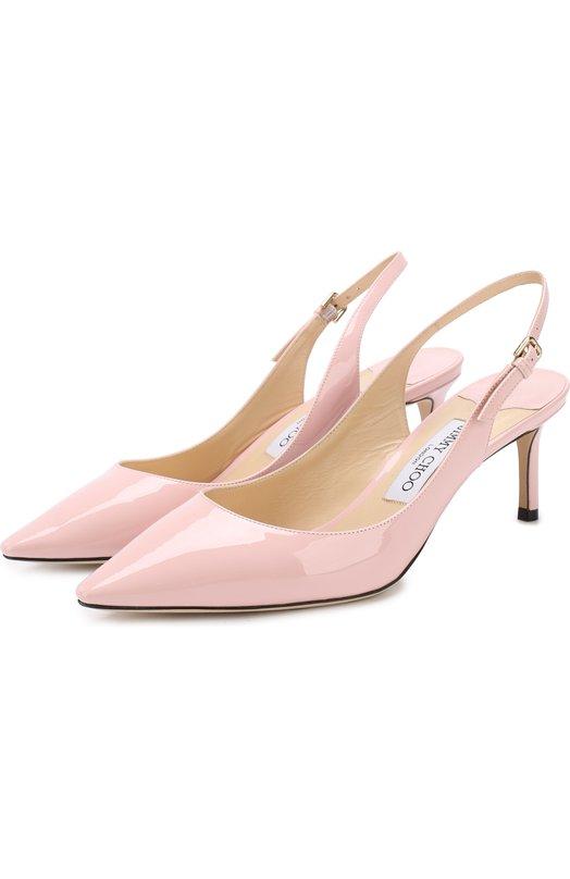 Купить Лаковые туфли Erin 60 на шпильке Jimmy Choo, ERIN 60/PAT, Италия, Светло-розовый, кожа: 100%; Подошва-кожа: 100%; Подкладка-кожа: 100%; Кожа: 100%;