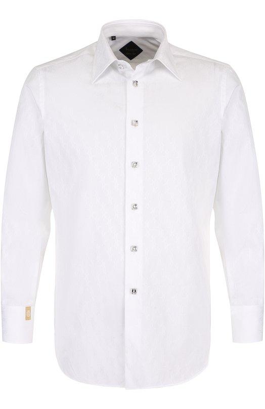 Купить Хлопковая сорочка с воротником кент Billionaire, B18C MRP_0343 BTE002N, Италия, Белый, Хлопок: 100%;