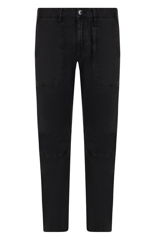 Купить Хлопковые брюки прямого кроя Stone Island, 681530404, Италия, Черный, Хлопок: 97%; Эластан: 3%;