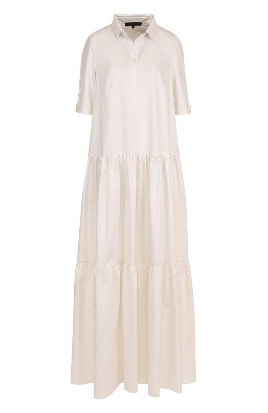Купить Однотонное хлопковое платье-макси Tegin, SD1812, Россия, Белый, Хлопок: 100%;