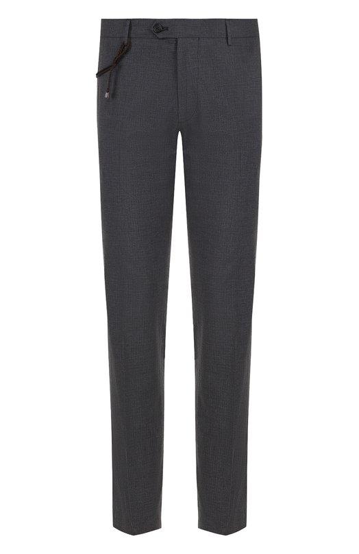 Купить Хлопковые брюки прямого кроя Berwich, SC/1/TS1550X, Италия, Темно-серый, Хлопок: 98%; Эластан: 2%;