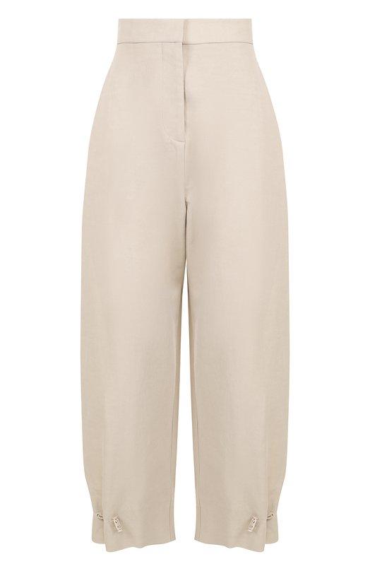 Купить Укороченные брюки из смеси хлопка и льна с карманами Stella McCartney, 509476/SIA03, Венгрия, Светло-бежевый, Полиамид: 40%; Хлопок: 36%; Лен: 24%;