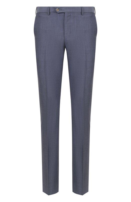 Купить Шерстяные брюки прямого кроя Pal Zileri, M3110--K---33144, Италия, Голубой, Шерсть: 84%; Мохер: 16%; Подкладка-вискоза: 100%;
