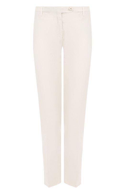 Купить Однотонные хлопковые брюки со стрелками Colombo, PA00101/-/A00119, Италия, Белый, Хлопок: 98%; Эластан: 2%;