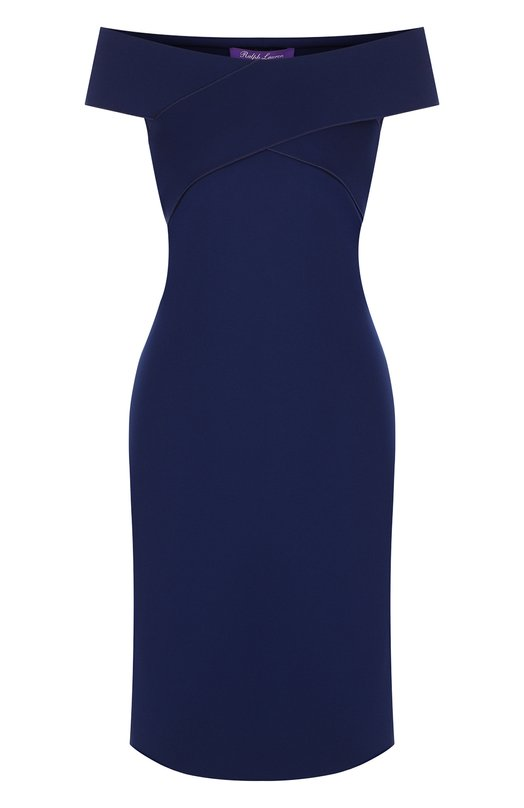 Купить Приталенное платье с открытыми плечами Ralph Lauren, 290713974, Италия, Синий, Полиамид: 84%; Эластан: 16%;