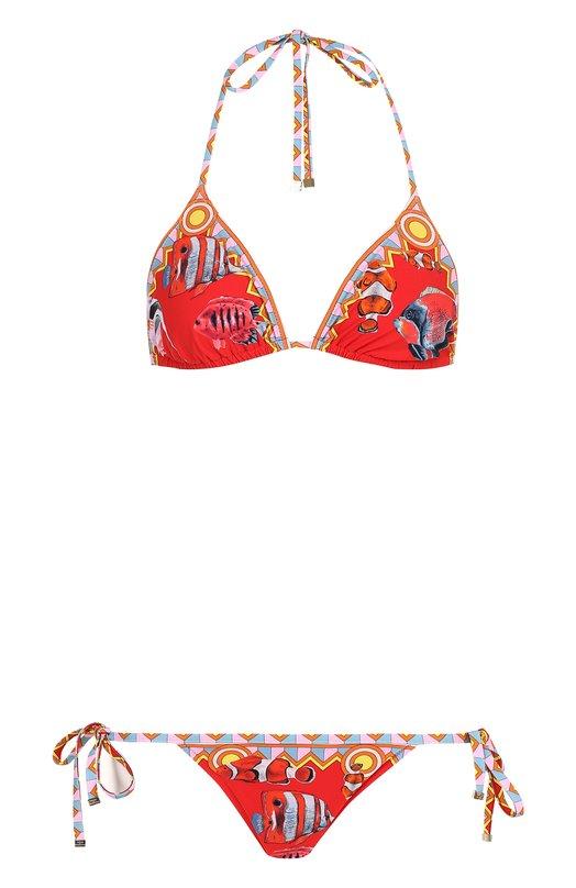 Купить Раздельный купальник с принтом Dolce & Gabbana, 08A02J/FPGVU, Италия, Красный, Полиамид: 75%; Эластан: 25%;