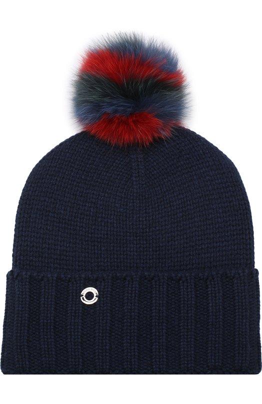 Кашемировая шапка Funny Fox Hat с меховым помпоном Loro Piana