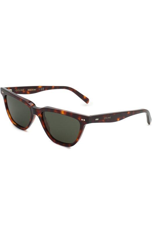 Купить Солнцезащитные очки Céline Eyewear, CL40023I 54N, Италия, Коричневый