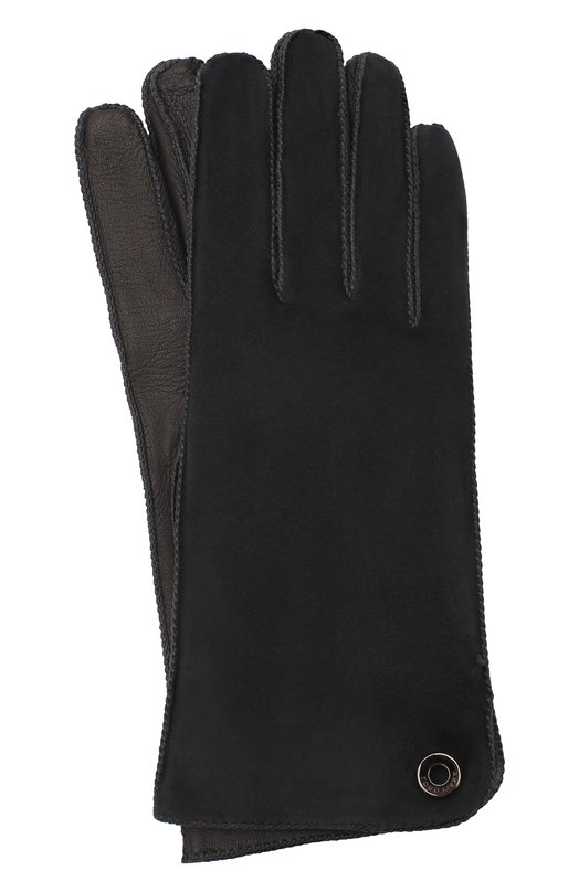 Купить Перчатки Jacqueline из кожи и замши Loro Piana, FAF8575, Италия, Темно-серый, Подкладка-кашемир: 70%; Подкладка-шелк: 30%; Кожа натуральная: 100%; Замша натуральная: 100%; Кожа: 100%;