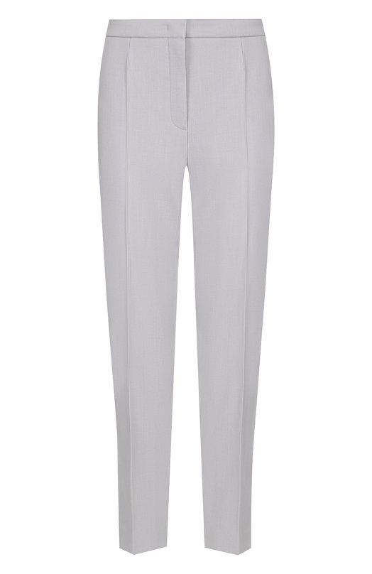 Купить Укороченные шерстяные брюки со стрелками Escada, 5026908, Румыния, Серый, Шерсть: 98%; Эластан: 2%;