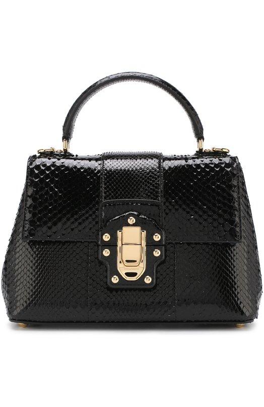 Купить Сумка Lucia из кожи питона Dolce & Gabbana, BB6312/A2043, Италия, Черный, Кожа/питон/Python Reticulatus: 100%; Кожа/питон/Python Bivittatus: 100%;