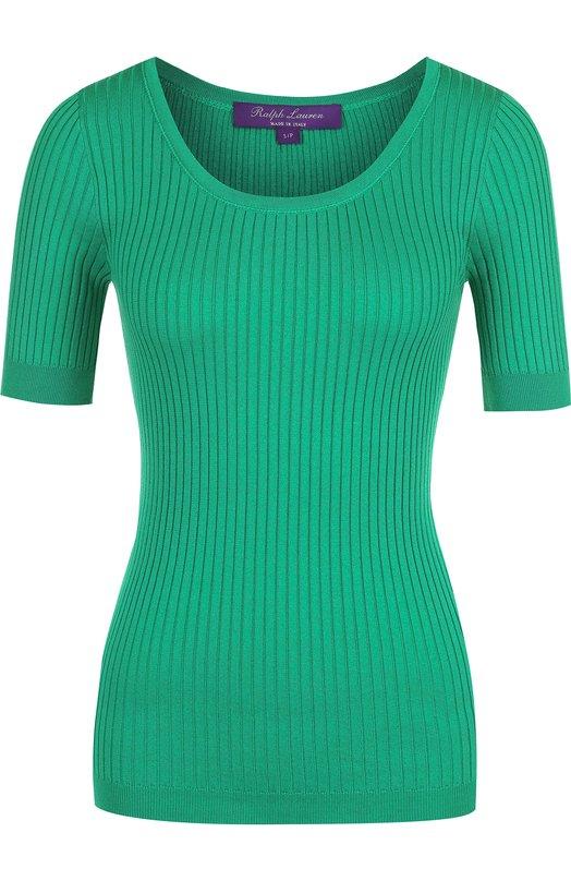 Купить Топ фактурной вязки с круглым вырезом Ralph Lauren, 290710190, Италия, Зеленый, Хлопок: 100%;