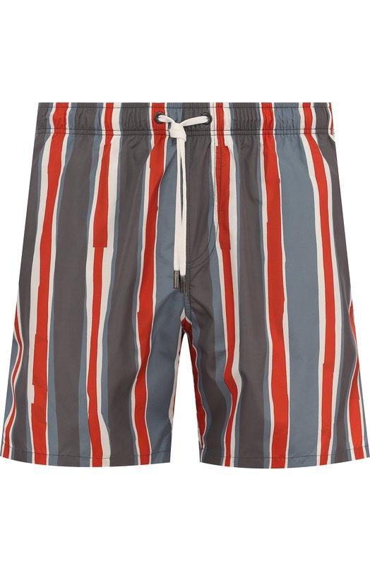 Купить Плавки-шорты в полоску Ermenegildo Zegna, N7B540090, Италия, Серый, Полиэстер: 100%;