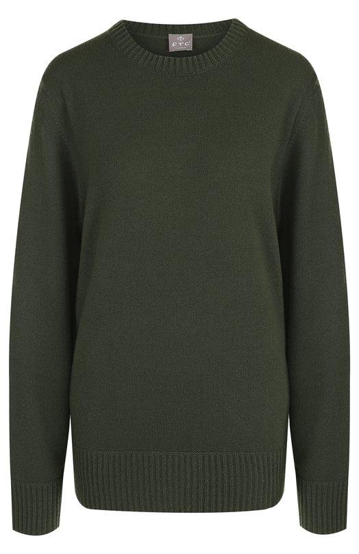 Купить Однотонный кашемировый пуловер с круглым вырезом FTC, 708-1020, Китай, Хаки, Кашемир: 100%;