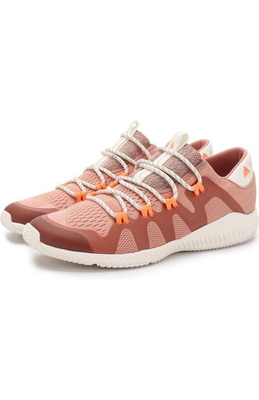 Купить Текстильные кроссовки CrazyTrain Pro на шнуровке adidas by Stella McCartney, BB6241, Вьетнам, Розовый, Подошва-резина: 100%; Текстиль: 100%; Подкладка-текстиль: 100%;