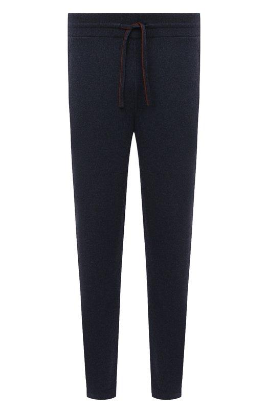 Купить Кашемировые брюки прямого кроя с поясом на кулиске Loro Piana, FAG4527, Италия, Темно-синий, Кашемир: 100%;