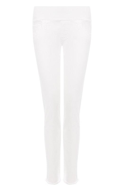 Купить Однотонные джинсы с бахромой Pietro Brunelli, JP0043/VM/DE0058, Италия, Белый, Хлопок: 92%; Отделка-хлопок: 90%; Полиэстер: 6%; Лайкра: 2%; Отделка-эластан: 10%;