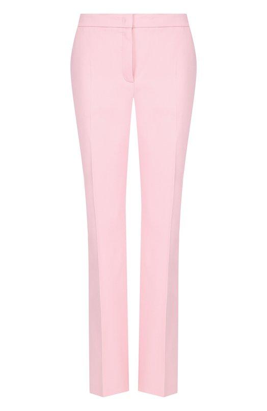 Купить Однотонные шерстяные брюки со стрелками Escada, 5027210, Румыния, Светло-розовый, Шерсть: 98%; Эластан: 2%;