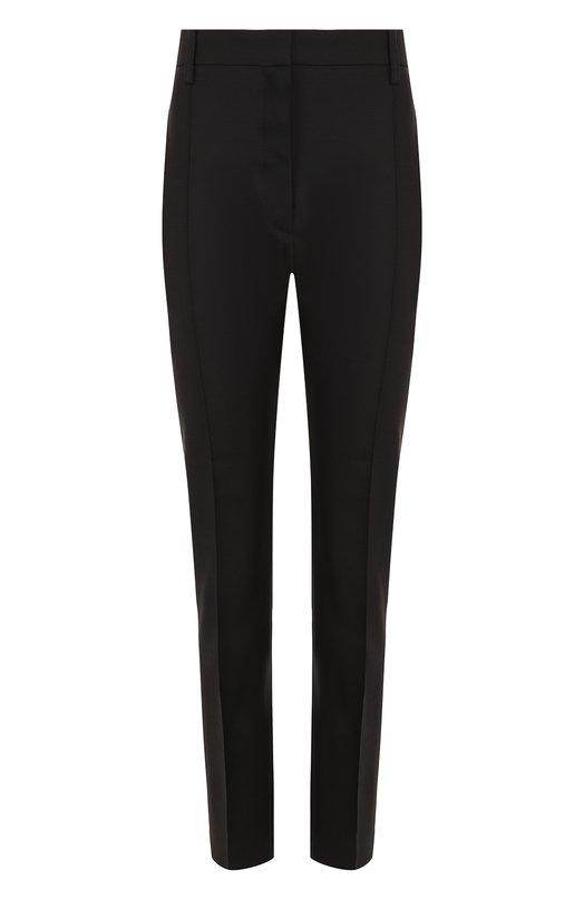 Однотонные брюки из смеси шерсти и шелка со стрелками  Valentino