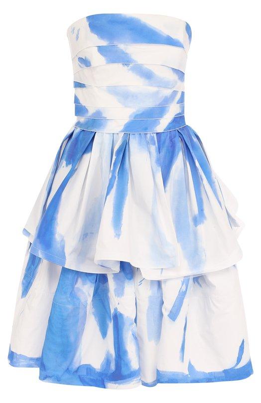 Купить Хлопковое мини-платье с оборками и принтом Ralph Lauren, 290706939, США, Белый, Хлопок: 100%;