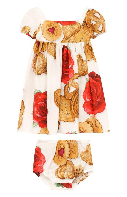 Хлопковый комплект из платья и трусов  Dolce & Gabbana