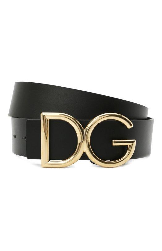 Купить Кожаный ремень с фигурной пряжкой Dolce & Gabbana, BC4246/AC493, Италия, Черный, Кожа: 100%;
