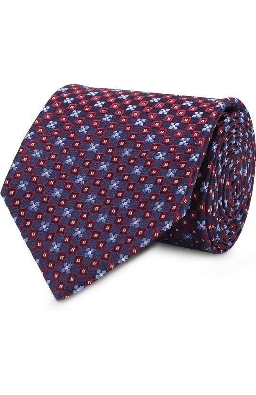 Купить Шелковый галстук с узором Eton, A000 30573, Великобритания, Бордовый, Шелк: 100%;
