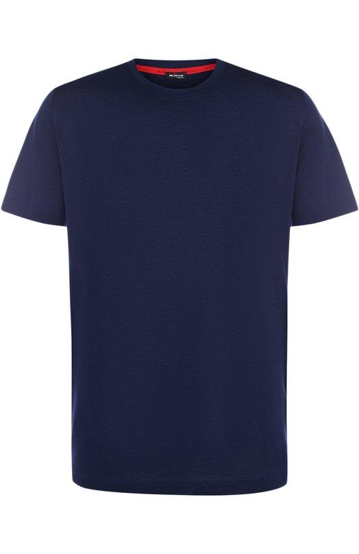 Купить Хлопковая футболка с круглым вырезом Kiton, UK843/ME18769S008, Италия, Синий, Хлопок: 100%;