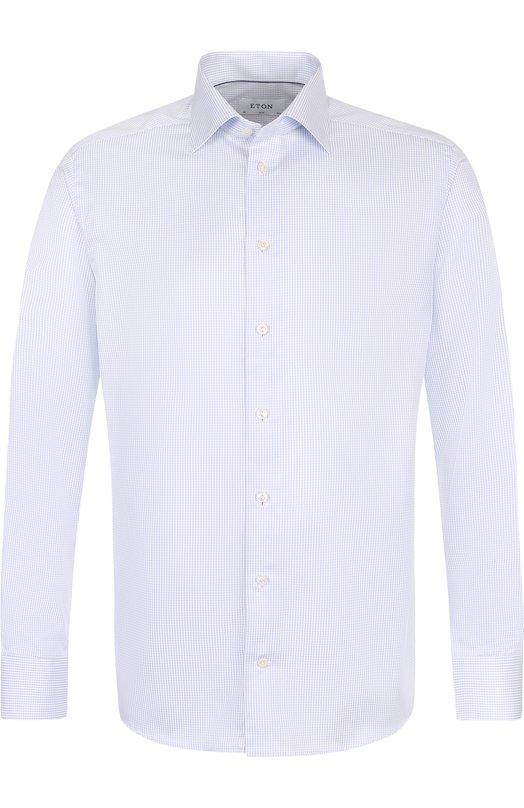 Купить Хлопковая сорочка с воротником кент Eton, 3070 79511, Румыния, Голубой, Хлопок: 100%;