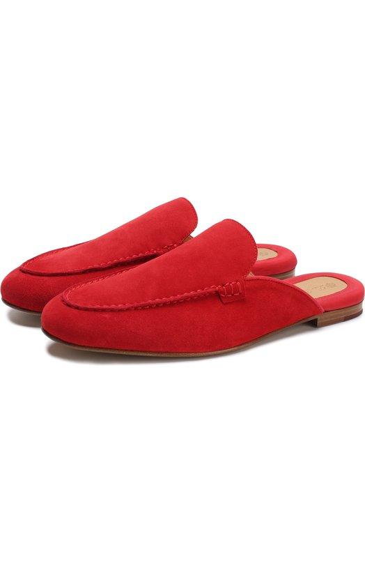 Замшевые сабо Midsummer Walk Loro Piana, FAI1610, Италия, Красный, кожа: 100%; Подошва-кожа: 100%; Подкладка-кожа: 100%; Кожа: 100%;  - купить