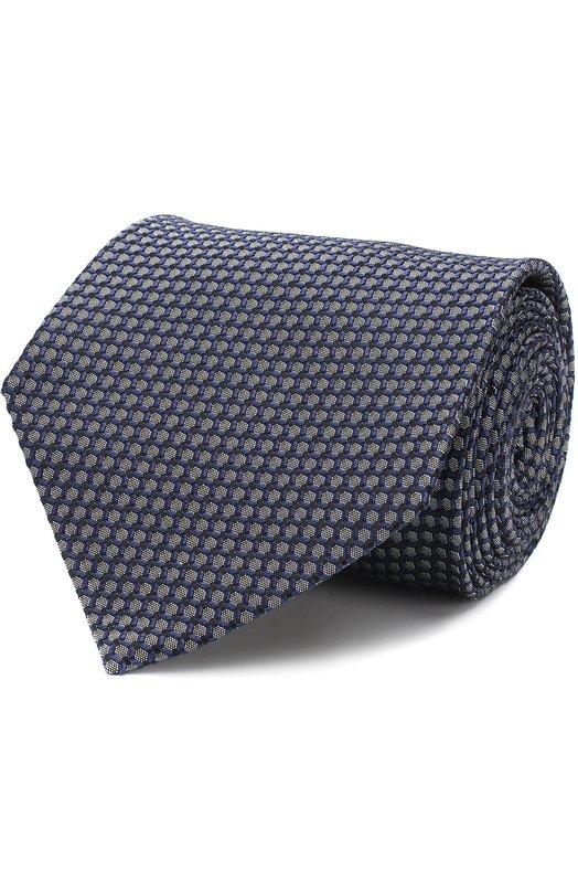 Купить Шелковый галстук с узором Tom Ford, 3TF35/XTF, Италия, Синий, Шелк: 100%;