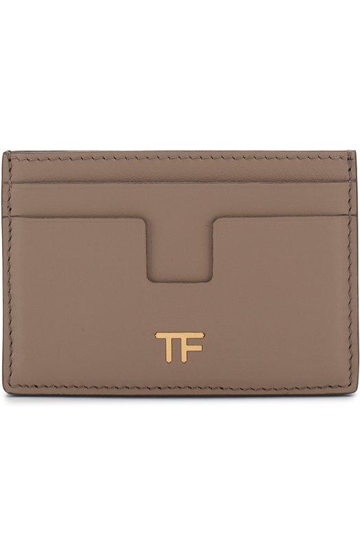 Купить Кожаный футляр для кредитных карт Tom Ford, S0250T-CE7, Италия, Бежевый, Кожа натуральная: 100%;