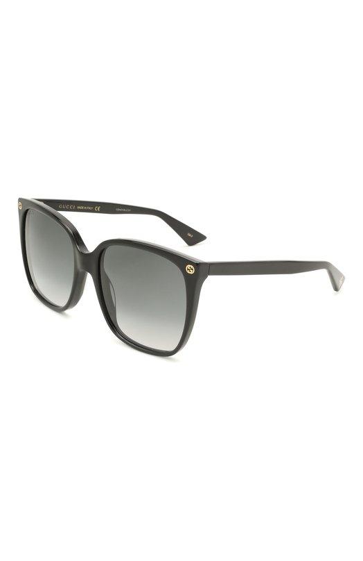 Купить Солнцезащитные очки Gucci, GG0022 001, Италия, Черный