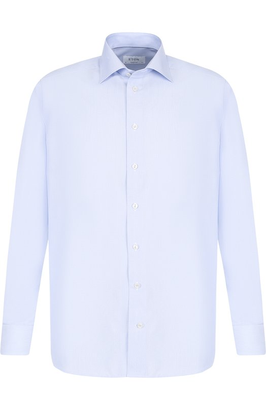 Купить Хлопковая сорочка с воротником кент Eton, 2701 79407, Румыния, Голубой, Хлопок: 100%;