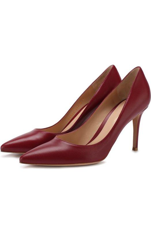 Кожаные туфли Gianvito 85 на шпильке Gianvito Rossi, G24580.85RIC.NAPSYRA, Италия, Бордовый, кожа: 100%; Подошва-кожа: 100%; Подкладка-кожа: 100%; Кожа: 100%;  - купить