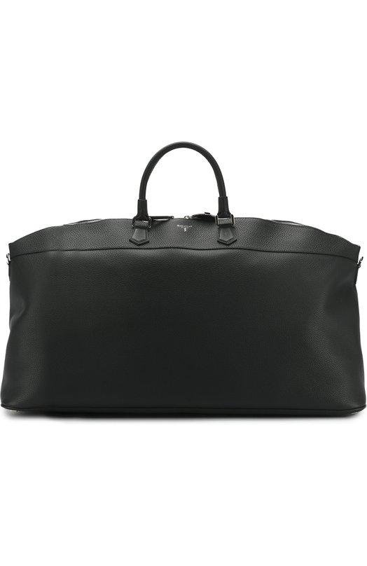 Купить Кожаная дорожная сумка с плечевым ремнем Serapian, SCACCMLL6922M62A, Италия, Темно-синий, Кожа натуральная: 100%;