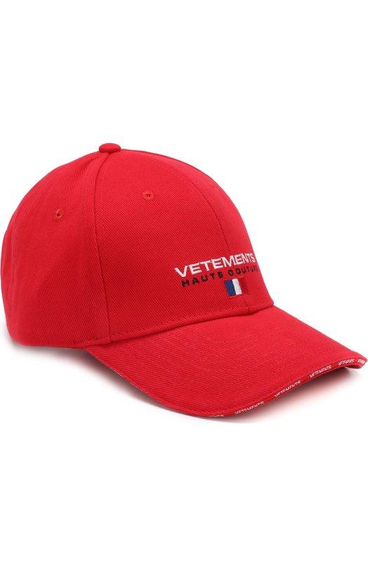 Купить Хлопковая бейсболка Vetements, WSS18AC16, Китай, Красный, Хлопок: 100%;