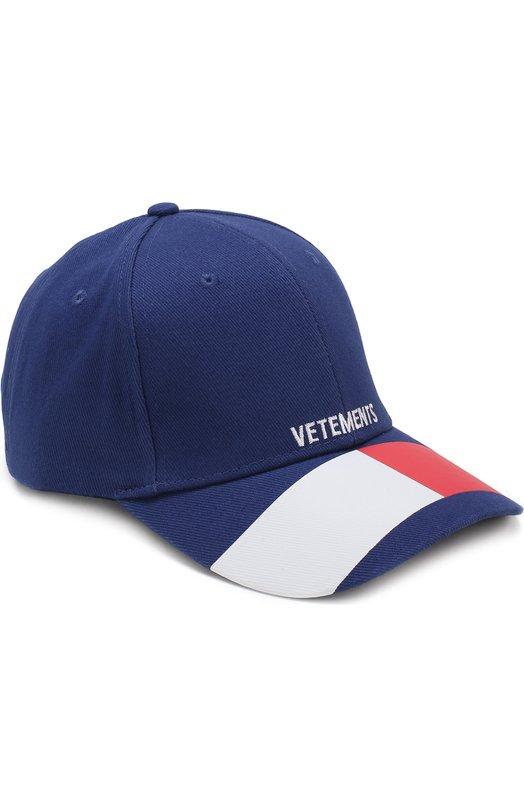 Купить Хлопковая бейсболка Vetements, WSS18AC19, Китай, Синий, Хлопок: 100%;